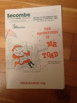 "Secombe Centre, Sutton - 1987 ""The Adventures Of Mr Toad"" Michael Cross,"