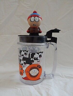 1998 Comedy Central South Park Kenny/stan/cow Plastic Lidded Beer  Mug Stein