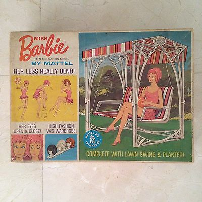 Vintage Miss Barbie 1963 Lawn Swing, Wigs, Instructions And more