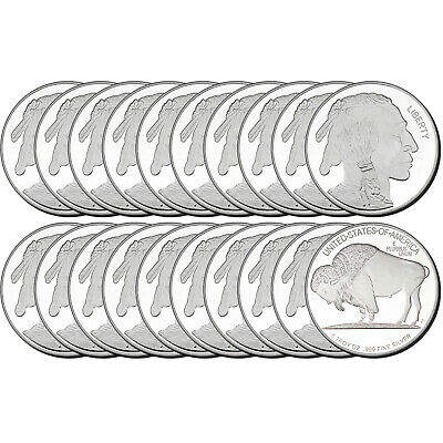 Buffalo Medallion 5oz .999 Silver (20pc)