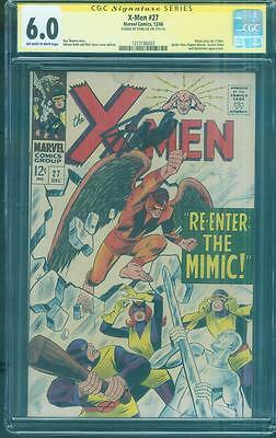 X Men 27 CGC SS 6.0 Stan Lee Signed Mimic Joins 1966 Roy Thomas Dick Ayers