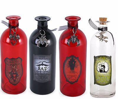 Decorative Potion Bottles Witch Dragon Vampire Bat Halloween Gothic Fantasy