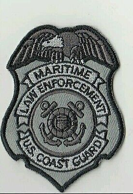 USCG badge patch Coast Guard DHS black grey velcro DSF DOG MSRT TACLET