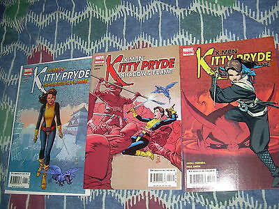 Kitty Pryde Shadow & Flame. #'s 1-3 (of 5) comic lot