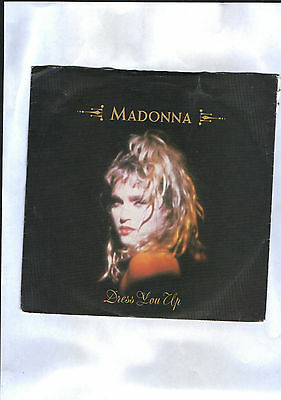 "Madonna(7"") Dress You Up  B/w  I Know It-1984-Sire Records-W 8848-P/sleeve-G/con"