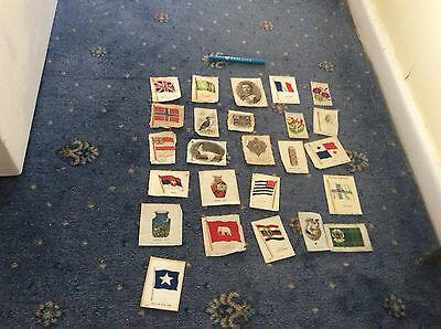 24 Vintage Original Cigarette Silks Mixed Lot Dated Probably 1930S Nice To Have