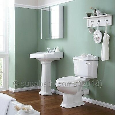 Legend 4 Piece Traditional Victorian Suite Toilet WC Basin, Pedestal, Seat