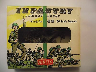 Airfix HO 00 1/72 Scale Figures - Infantry Combat Group - Early Window Box