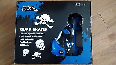 Children's Adjustable Quad Skates Sizes 1-4