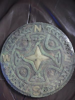Celtic Pagan Resin Garden Outdoor Stepping Stone Plaque with 4 Directions NSEW