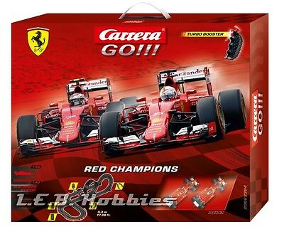 Carrera GO!!! Red Champions 1/43 analog slot car race set 62394
