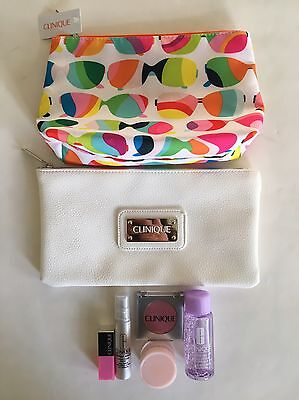 Brand New Clinique 'Bonus Time' Makeup Bags With Samples