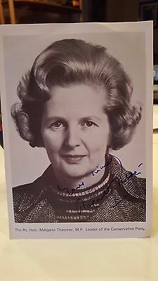 MARGARET THATCHER HAND SIGNED 5x7 Autographed publicity photo UK Prime Minister