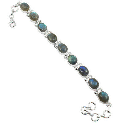 Labradorite Sterling Silver Bracelet Allison Co Jewelry SB-403