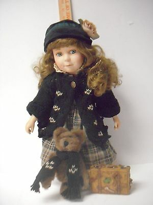 """Boyds Bears 1999 16"""" Brittany Lifes Journey Doll Collection On Stand"""