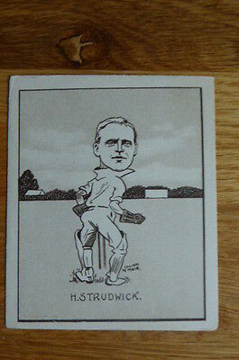 Tobacco Card Hill Caricatures Of Famous Cricketers #29 H.studwick Surrey 1926