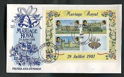 Comoros : 1981 Royal Marriage ( Charles and Diana )