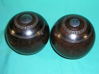 Pair of Antique Thomas Taylor Silver Mounted Prize Bowling Balls Woods 1918