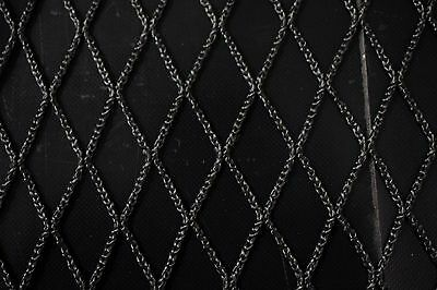 """Black Sports Netting Mesh 60"""" Wide Polyester Durable Heavy Duty Outdoor Fabric"""