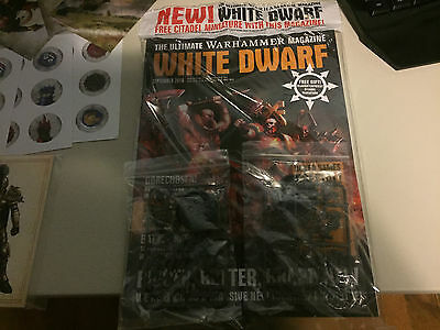 White Dwarf September 2016 + X2 Slaughterpriests of Khorne and Promo Stuff