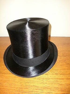 Vintage Mans Silk Top Hat-Extra Large Size 7 3/8 Ascot Ready!