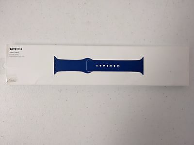 Genuine MNJ22AM/A Apple Watch 38mm Sport Band w/ Stainless Steel Pin - Blue NEW