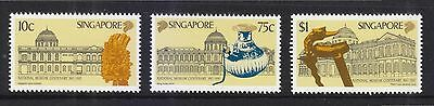 Singapore 1987 National Museum Centenary Comp. Set Of 3 Stamps Sc#511-513 Mint