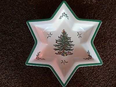 Spode Star Shaped Christmas Tree Dish - Collectors Item