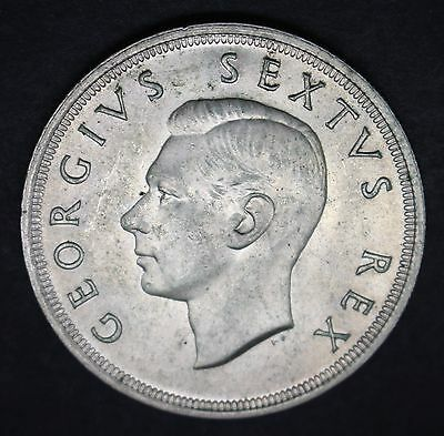 South Africa Silver 5 Shillings 1950