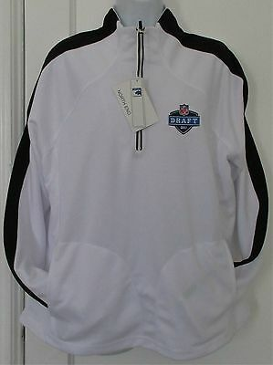 New NWT NFL Draft Team Apparel White Long Sleeve Casual Pullover Jacket XL Women