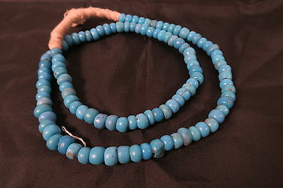 Alte Glasperlen türkis blau Padre beads opaque African trade beads Afrozip