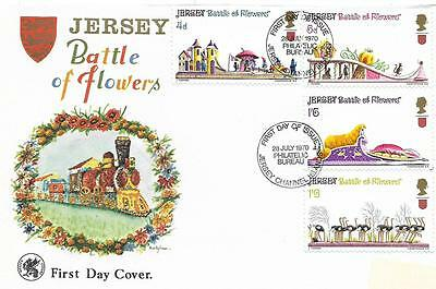 Jersey Channel Islands.  First Day Cover. Battle of Flowers 1970