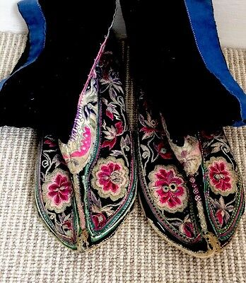 Super Cute Vintage Chinese Embroidered Bootie Size36 Bought In Shanghai