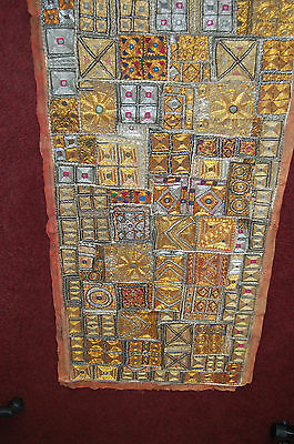 Indian Katchi mirrored tapestry wall hanging