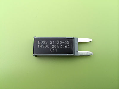 20A Atm Mini Blade Fuse Style Buss 21120-00 Circuit Breaker 12V Auto Reset