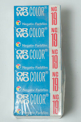 5 rolls of ORWO Color NC19 120 color film. Medium format roll film expired