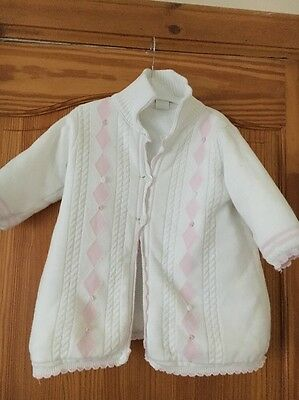 Baby Girls Pretty Originals Wool No Hood Coat Age 18 Months