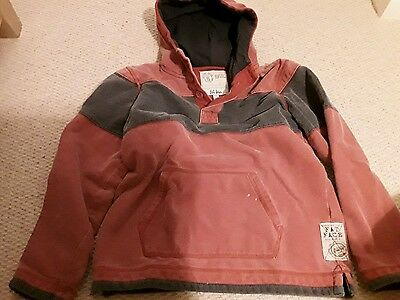 Fat Face boys hoodie, red and grey.10-11 years