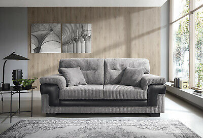 SAMSON Corner, 2+3 Seater Cord Chenille Fabric Sofa, Armchair in Grey or Brown