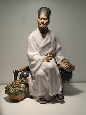 Chinese Shiwan Ceramic figurine of a Scholar
