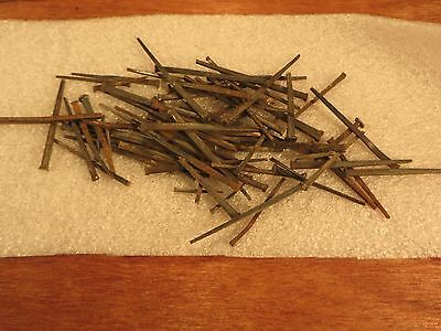 (50+) Primitive Vintage OLD SQUARE CUT  NAILS STEEL Used Hardware From Old Floor
