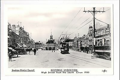 Stockton High Street from the South Circa 1900 ~ 1970's? REPRO Postcard QUALITY