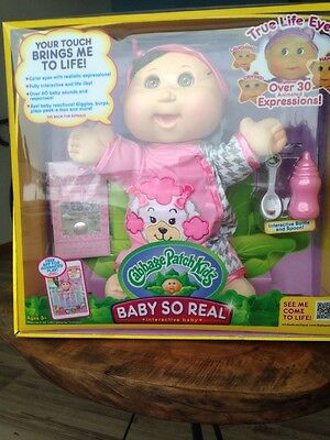"""Cabbage Patch Kids 14"""" Baby So Real - Brunette Hair Brown Eyes"""