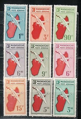 1941 French colony stamps, Madagascar, full set MH, YT 16-24