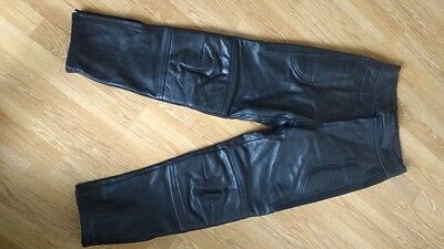 """Mens Motorcycle Leather Jeans / Trousers Size 32"""" waist by Echtleer"""