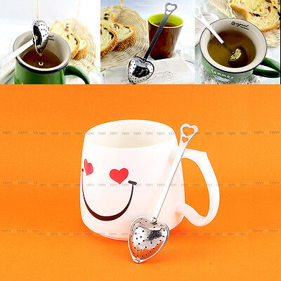 Stainless Steel Heart Shaped Tea Leaf Strainer Filter Herbal Spice Infuser Hot