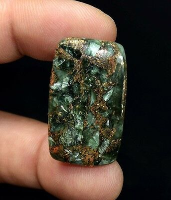 Brilliant  29.55 Cts. Natural Copper Seraphinite Cab For Sterling Silver Jewelry