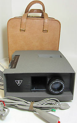 Bausch Lomb 655 Slide Projector Balomatic Lens Carrying Case Remote Manual USA