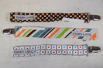 Lot of 3 New Caden Lane Pacifier Clips