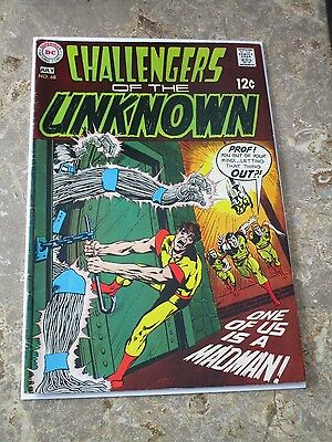 CHALLENGERS OF THE UNKNOWN #68  Neal Adams art cover, DC Comics 1969
